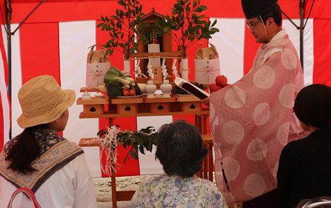 地鎮祭を行いました。(堺市北区百舌鳥梅町 S様邸)